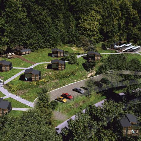 Projekt domków na wynajem