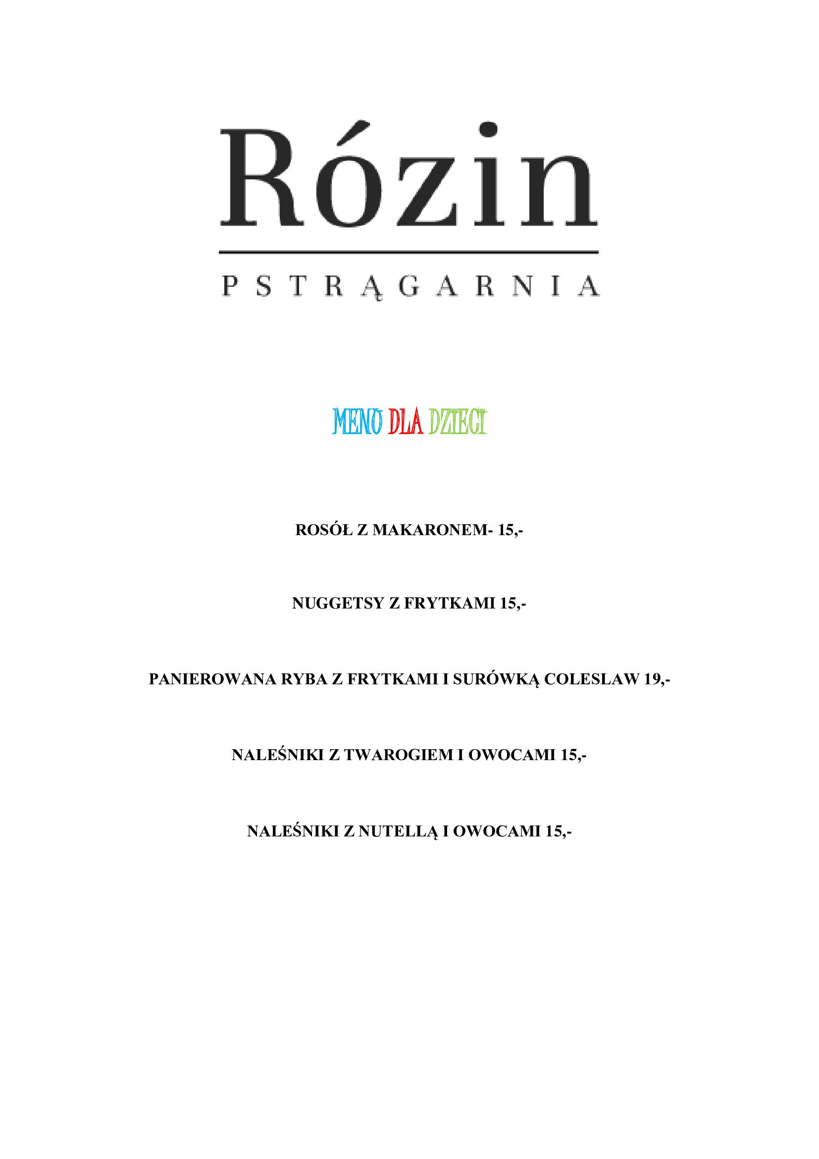 Restauracja Rózin 7