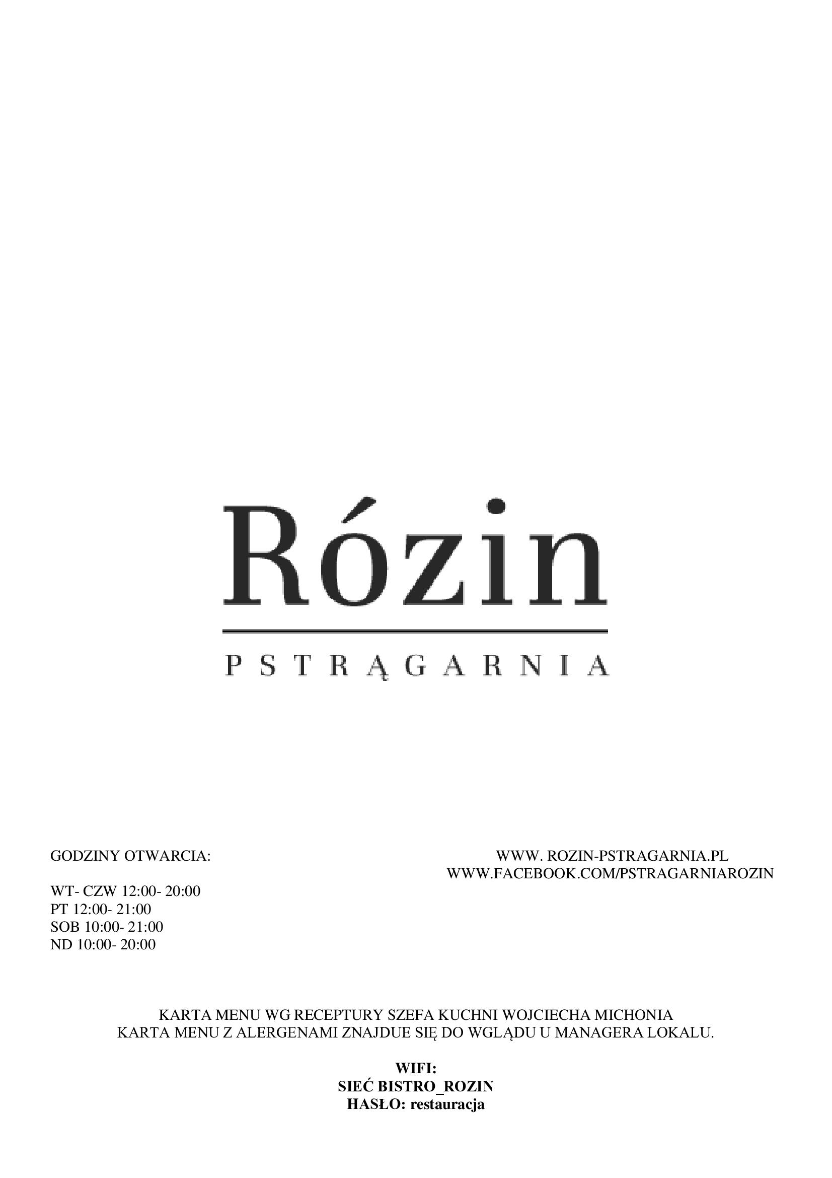 Restauracja Rózin 1